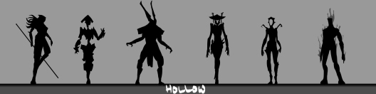 Hollow silhouette concepts