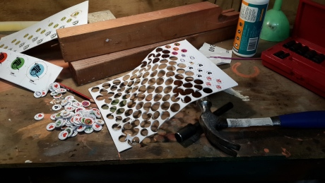 Hammering out some tokens.