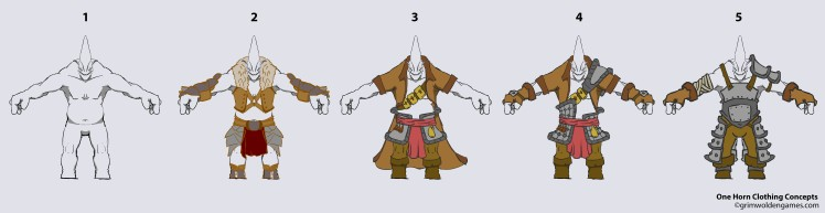 One Horn Concept 40 pose Line up