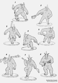 One Horn Concept 44 Poses