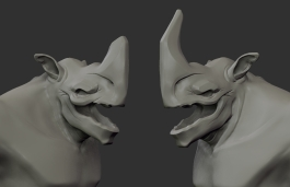 One Horn Concept 49_Refined Head Concepts