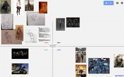 Screenshot of Faction Design Board