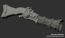 One Horn Musket_Sculpt_Progress01