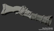 One Horn Musket_Sculpt_Progress01