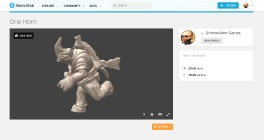One Horn Sketchfab preview
