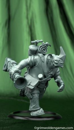 One Horn Model Render