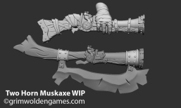 Next step along comparing it to the One Horn's musket